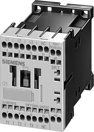 SIEMENS SIRIUS - CONTACTOR AC-3 3KW 1NA CORRIENTE ALTERNA 3 POLOS TAMAñO S00 CONEXION RESORTE
