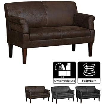 Cavadore 3-Sitzer Sofa Femarn mit Federkern / Küchensofa