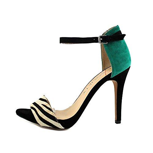 Branco Camurça Sheila Única Preto Salto De Sociedade Sapatos Rodada Preto Esmeralda De x4xT8Wq
