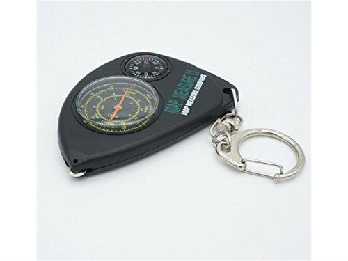 UHUA Outdoor-Aktivitäten Karte Entfernungsmesser Navigation Kompass Outdoor Erkunden Navigation Tools für Camping (Schwarz)