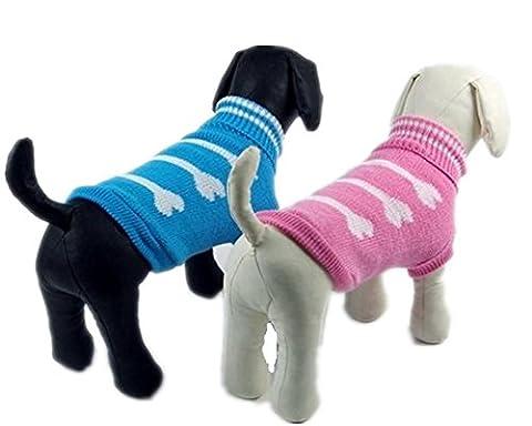 Pet Manteau d'hiver en polaire pull chaud doux coton deux pieds Vêtements pour chien 2couleurs 6tailles 2pièces, xx-large