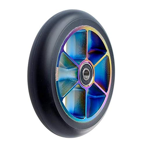 Anaquda Blade Stunt-Scooter Rolle 120mm + Abec11 Kugellager (Rainbow / Pu Black)