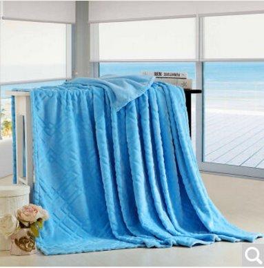 BDUK Im Sommer Kühl- und Klimaanlagen und Solid Gold Tiao-Fleece Decke Twin Single ,P,200*230cm Decken Mädchen Twin Bettdecke