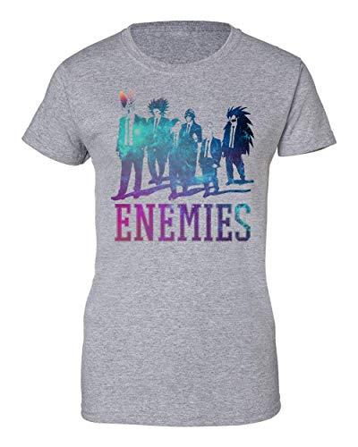 TeeWorld Enemies | Dragon Ball | DBZ | Anime Series | Galaxy | Villains | Cell | Frieza | Figure | Power Camiseta de Mujer XX-Large