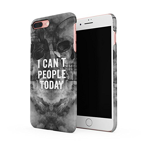 Black Skull Snap (I Can't People Today Black Skulls Dünne Rückschale aus Hartplastik für iPhone 7 Plus & iPhone 8 Plus Handy Hülle Schutzhülle Slim Fit Case cover)