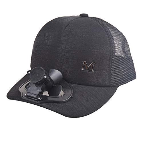 Fan Cooling Cap Hut, Sommer Fan Cooling Baseball Cap Hut USB aufladen atmungsaktiv Schatten Sonnencreme Hut für Baseball, Golf und Sport zu beobachten (C) -