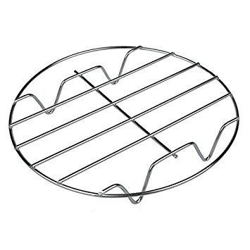 T & B Kochen Rack 304Edelstahl rund Backen und Kühlung Dünstrost W STÄNDER Kochgeschirr schwere chrom für Herd Silber Ton Set von 2 8inch 1pc silber