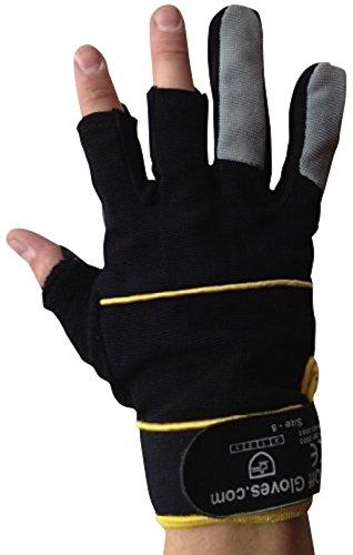 Fingerlose Handschuhe - Arbeiten, Elektriker, Bauherren, Installateure, DIY und Allgemeine Arbeitskleidung. (Medium EU 9) - 2