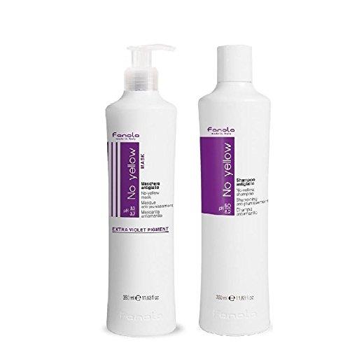 Scheda dettagliata Fanola, set No Yellow shampoo + No Yellow Mask, biondo con mèches, grigio, anti giallo, 2 x 350ml