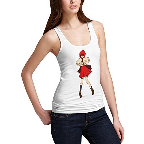 TWISTED ENVY Damen Pullunder Gr. X-Large, Weiß - Weiß America Red Riding Hood