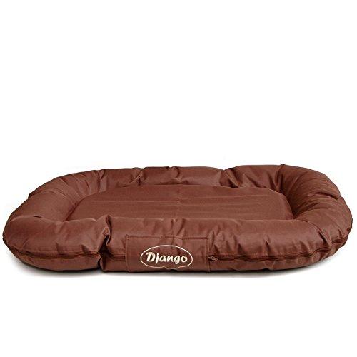 Luxus Hundekissen XXL Django von LovePet | Hundebett, Komfortmatratze | Maße: 90 x 120 cm | Farbe: braun | teflonbeschichtet - kratzfest - atmungsaktiv | absolut pflegeleicht