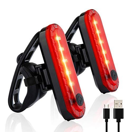 SLKTDZM Posteriore della bici della luce ultra bright USB ricaricabile vulcano posteriore della bicicletta accessori ad alta intensità si adatta facile da installare per la torcia elettrica di sicurez