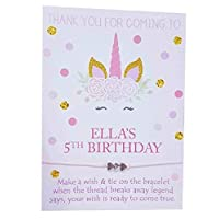 Treasured Forever Personalised Unicorn Wish Bracelets Girls Birthday Party Bag Fillers favours - Perfect for any Event | 10