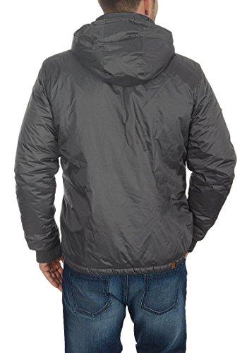 BLEND Carl Herren Übergangsjacke Windbreaker Jacke mit Kapuze aus hochwertiger Materialqualität Ebony Grey