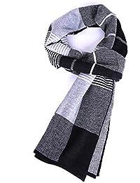 Aooaz Écharpe pour homme cadeau écharpe d hiver en cachemire jacquard pour  Noël écharpes homme b5cdf597413