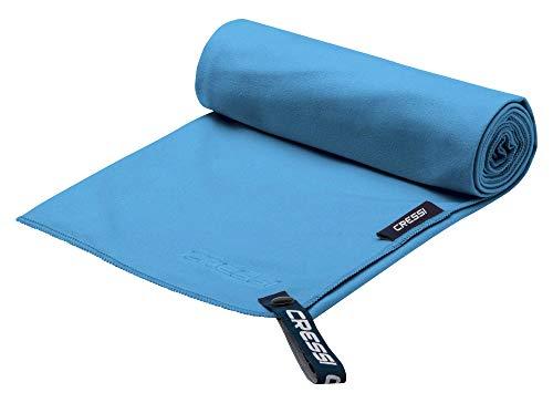 Cressi Microfibre Fast Drying Toalla de Sport, Unisex Adulto, Azul Claro, 30x50cm