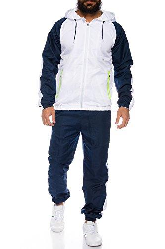 Herren Jogginganzug Trainingsanzug Sportanzug ID545, Größe:S;Farbe:Blau