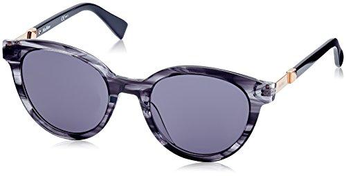 Max mara mm gemini ii ir aci 52 occhiali da sole, grigio (gry grybkspt/grey bluee), donna