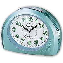 CASIO 10194 TQ-358-3D - Reloj Despertador analógico celeste