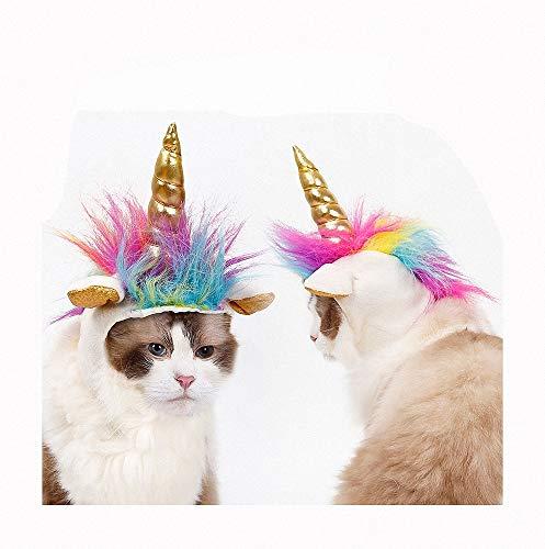 FZ FUTURE Kopfbedeckung der goldenen Hörner der Katze Halloween Kostüm für Katze Hund, Halloween Lustiges Haustier Kostüm, Haustier Halloween Party Requisiten, Kleine Hunde Oder Welpen - Leben Von Der Partei Kostüm