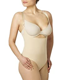 Sleex figurformender Damen Body, Open-Bust (feine, verstellbare Traeger)