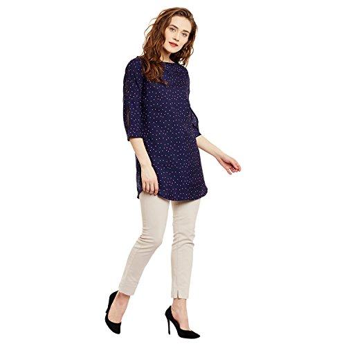 Ruhaan'S Women'S Tunic Top (Bs_7046_Xxl_Navy Blue_Xx-Large)