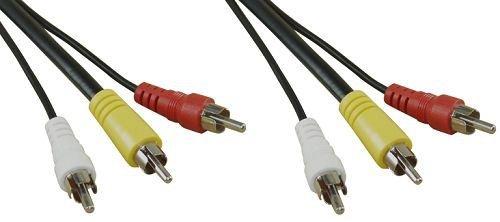 InLine 896111m 3x RCA Schwarz Kabel Video Composite 1 X Composite-video