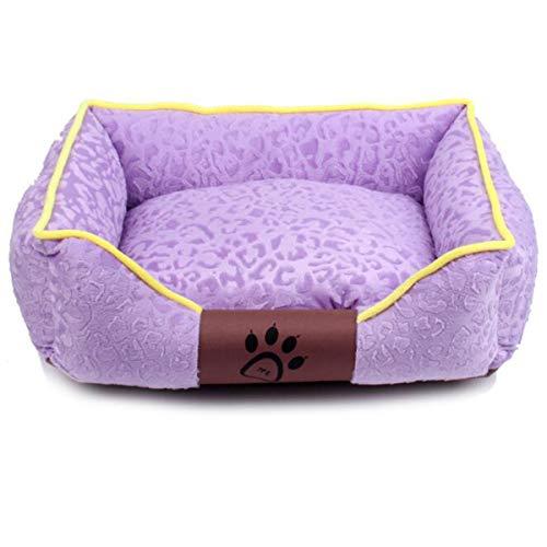 WXJHA Haustier Hund Katzen beruhigendes Bett, Haustiere waschbar Premium Hund und Katze Bett/Lounge mit weichen Seiten, Bio-Baumwolle für Katzenwelpen für Zubehör,L -