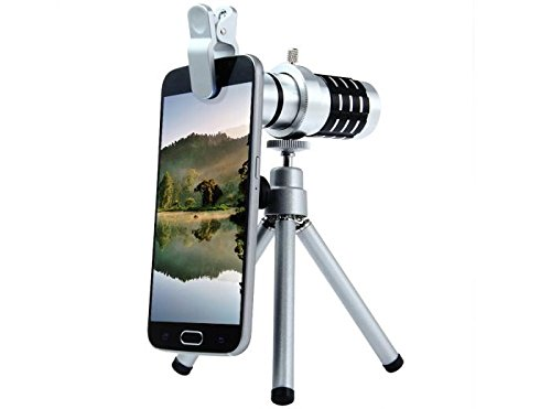 Fsi Universal 12X Zoom Clip Lens With Tripod For All Mobile Phones