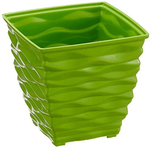 Klassic Plastic Square Planter Set (Small, Apple Green, Pack of 4)