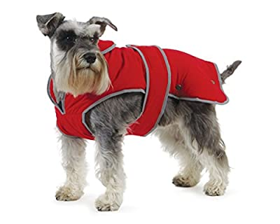 Muddy Paws Stormguard & Fleece Lining Coat Red Small