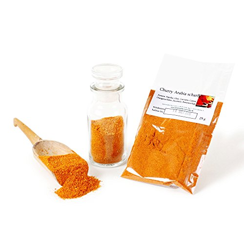 Curry Arabia, Curry-Pulver scharf, Curry-Gewürz, Curry-Gewürzmischung, Curry-Hot, Currygewürz, Curry-Vegan, arabische Gewürzmischung, 25g