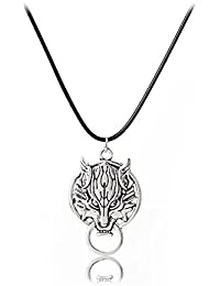 TBOP NECKLACE THE BEST OF PLANET Simple And Stylish Jewelry Pendant Retro Men's Wolf Necklace In Silver Color...