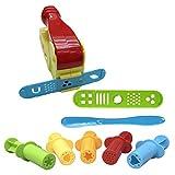 SUPVOX Plastilin Knetmasse Spielzeug Set ungiftig Schimmel 3D Eiscreme Spielzeug Kunst Liefert 9 Stücke