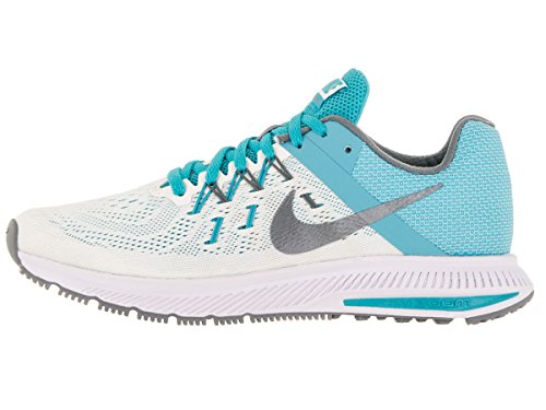 Nike Wmns Zoom Winflo 2, Scarpe da Corsa Donna Bianco (Blanco (Sail / Mtlc Hematite-Gmm Bl-Wht))