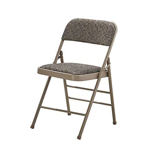 FENGFAN Stuhl Klappbarer Schreibtisch Sitz Starker Stahl Metallrahmen Stoff Gepolsterte Rückenlehne Büro Rutschfeste Rückenlehne - Stoff Stahl Bar Hocker