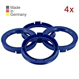KONIKON 4X Zentrierringe 66,6 x 57,1 mm Blau Felgen Ringe Radnaben Zentrierring Adapterring Ring Felgenring Distanzring Made in Germany