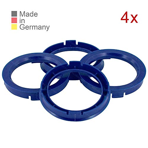 KONIKON 4X Zentrierringe 66,6 x 57,1 mm Blau Felgen Ringe Radnaben Zentrierring Adapterring Ring Felgenring Distanzring Made in Germany