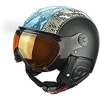 Dinho Slokker - casco de esquí con Fotocromática y polarizante visera - Unisex - 56-58 - azul negro