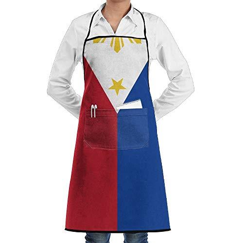 QIAOJI Philippinen-Schürze, Unisex, für Küche, Kochen, Garten, praktisch, verstellbare Tasche, wasserdicht, Kochschürze