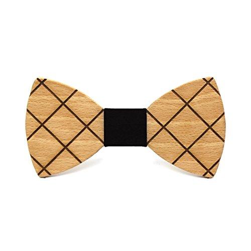 Pajarita madera Cross. Colección moda hombre: Madera