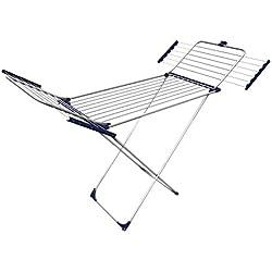 Gimi Tempo Super Tendedero de pie de aluminio 100 %, 25 m de longitud de tendido