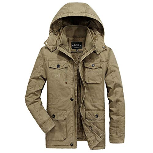 BGFHDLWESR Plus Size 7XL 8XL Military Parka MäNner Mantel Winter Verdicken Warme Schnee Kalte Jacken Baumwolle 1 L