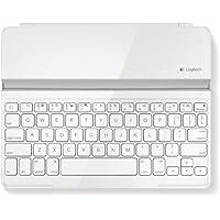 Logitech Ultrathin Magnetic Clip-On Keyboard Cover für iPad 4/ iPad 3/ iPad 2 (kabellose Bluetooth-Tastatur und Halterung, deutsches Tastaturlayout QWERTZ) weiß