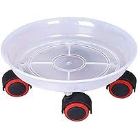 Soporte de plástico para macetas de plantas, para ruedas y macetas, para uso en interiores y exteriores