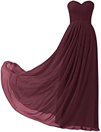 Topwedding Robe de demoiselle d'honneur/prom en mousseline de longue robe de soirée