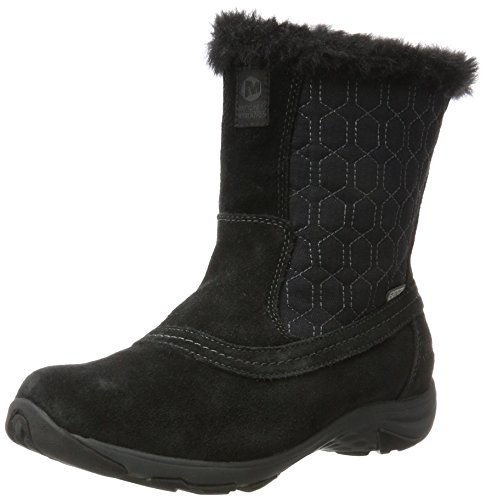 Merrell Damen Ryeland Tall Polar Waterproof Schneestiefel, Schwarz (Black), 38 EU (Boot Suede Black Tall)