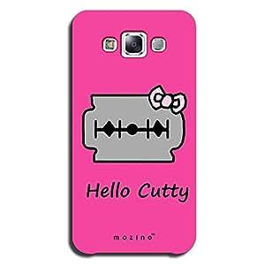 Mozine Hello Cutty printed mobile back cover for Samsung e5