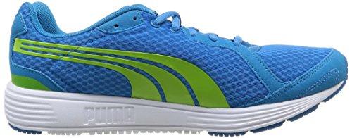 Puma Descendant Jr, Chaussures de sports extérieurs garçon Bleu (Methyl Blue/Lime Green)