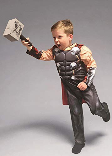 Magic Box Int. Kindergröße Marvel Avengers Deluxe Thor Kostüm Medium (5-6 - Medium Thor Kostüm